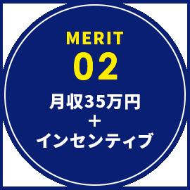 月収35万円インセンティブ